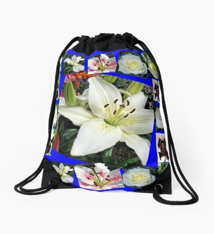 White Delight - Summer Flowers Collage Turnbeutel
