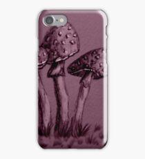 Tiny Mushrooms ...  Pencil Sketch iPhone Case/Skin