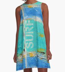 """""""Surfer Blues"""" A-Line Dress"""