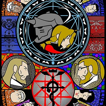 Fullmetal Alchemist Stained Glass by KewlZidane