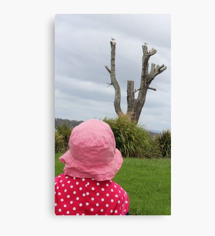 Baby & the Bird Tree Canvas Print