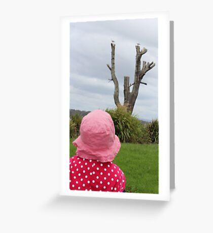 Baby & the Bird Tree Greeting Card