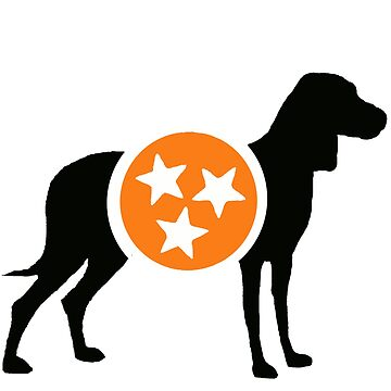 Black Hound with Orange & White Tri-Star by MorganNicole021