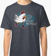Rollerskating Hen - Ca roule! - Dark design Classic T-Shirt
