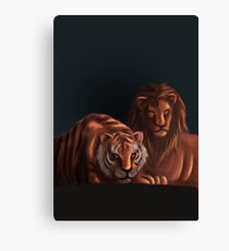 Lion | Tiger | Big Feline Canvas Print