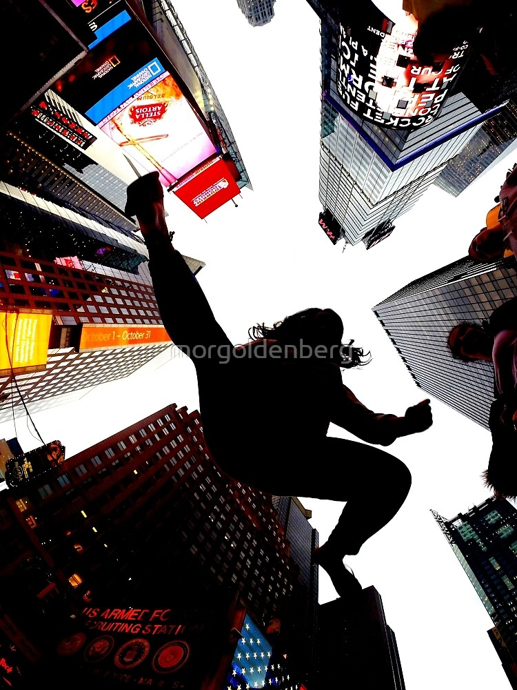 Jumping In Time Square by morgoldenberg