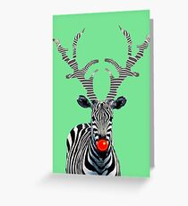 Rudolph - Zebra Style! Greeting Card