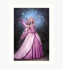 Titania Butterfly Fairy Queen Art Print