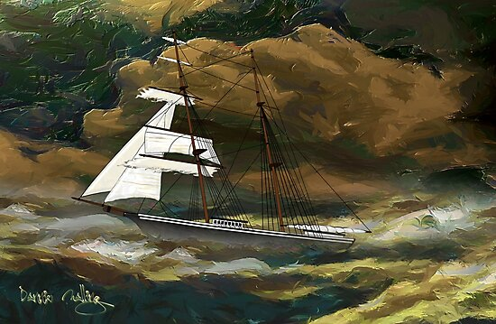Mary Celeste 1872  by Dennis Melling
