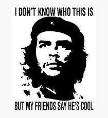 Che Guevara Hipster Shirt Photographic Print