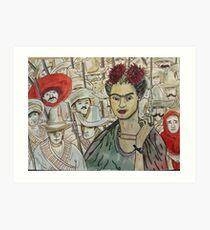Frida Kahlo Revolution Lámina artística