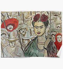 Frida Kahlo Revolution Póster