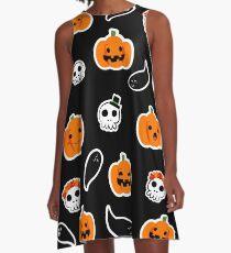 Halloween Pumpkins Vestido acampanado