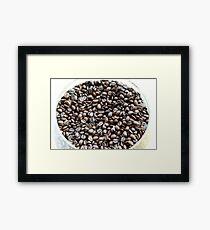 Brazil. A bowl of fresh coffee beans Framed Print