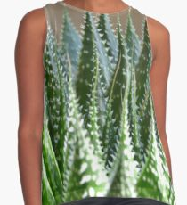 Another Green Cactus Pattern Contrast Tank