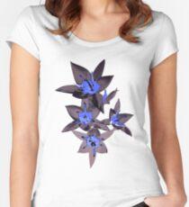 oriental flowers Women's Fitted Scoop T-Shirt