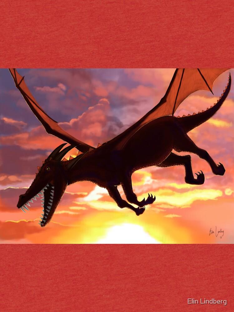 Soaring - Dragon Illustration by elindberg