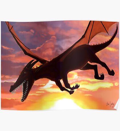 Soaring - Dragon Illustration Poster