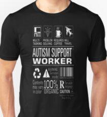 Multitasking Autism Support Worker Awareness Shirt T-Shirt  T-Shirt