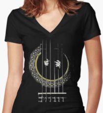 GUITAR SHIRT GUITAR PRISONER Women's Fitted V-Neck T-Shirt
