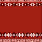 Beautiful Red Design Of Crosses by Joy Watson