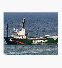 Greenpeace Comes To Lyme, Dorset.UK Photographic Print