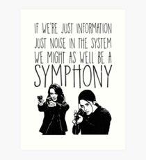 Root and Shaw - Symphonie - Person von Interesse Kunstdruck
