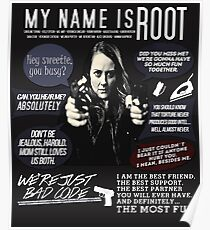 Root - Person von Interesse - Amy Acker Poster