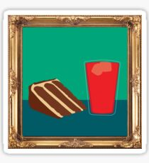 Peanut Butter Chocolate Cake with Kool-Aid {framed} Sticker