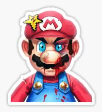 Mario smashed Sticker
