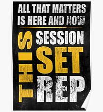 All That Matters Gym Quote  Poster