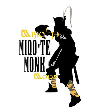 Miqo'te Monk by quirkyquail