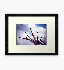 Red Arrows Framed Print