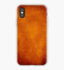 Grunge leather iPhone Case