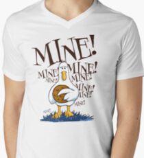 Seagull vs Cookie T-Shirt mit V-Ausschnitt für Männer