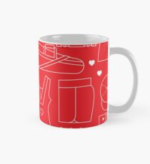 Tennis Female Sport Items Pattern Mug