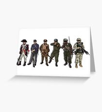 US Military Greeting Card