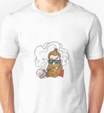 Young man smoking e-cigarette.  T-Shirt