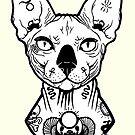 «sphynx tatuado» de PaperTigressArt