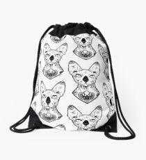 sphynx tattooed Drawstring Bag