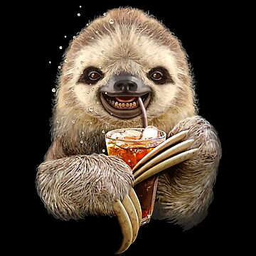 Funny sloth drinking by pinestopalms