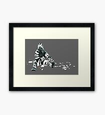 Gorillebra - The Gorilla Who Wanted to be a Zebra Framed Print