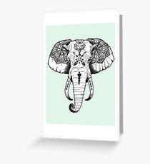 Elephant Tattooed Greeting Card