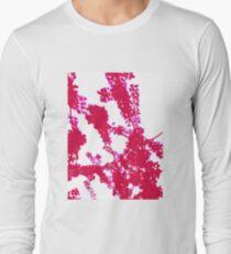 Pink Blossom Minimalism Long Sleeve T-Shirt