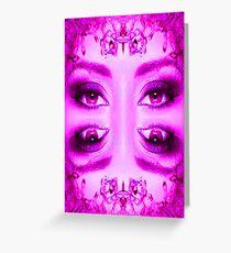 Purple Vision Greeting Card