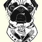 «Perro tatuado - Pug» de PaperTigressArt