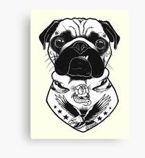Tattooed Dog - Pug Canvas Print