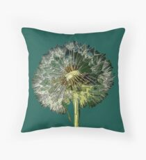 Make A Wish, Dandelion flower Art Throw Pillow