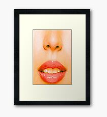 Nose and Mouth Framed Print