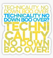 No down boo over Sticker